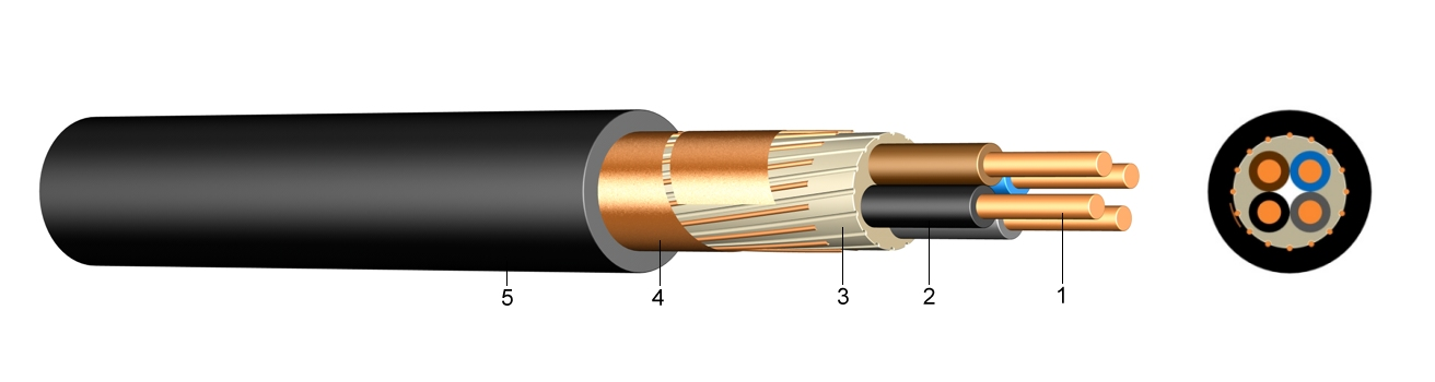 Pvc Insulated Cable Constrution : E xycy pvc insulated cable with concentric conductor