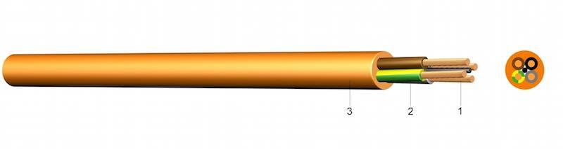 H07BQ-F - Poliuretanom oplašteni kabel za gradilišta s gumom izoliranim vodičima