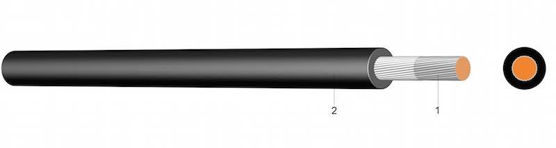 H07G-K ( 110°) - Gumom izolirani vod s povećanom otpornosti na toplinu