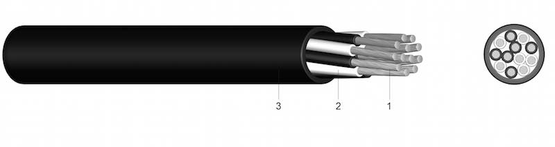 90 E/N/P/C - PVC-om izolirani kompenzacijski i termički kabel