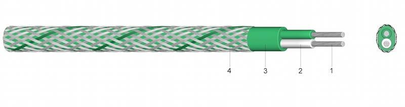90 E/N/P/C - Silikonom izolirani kompenzacijski i termički kabel sa ili bez opleta od čeličnih žica