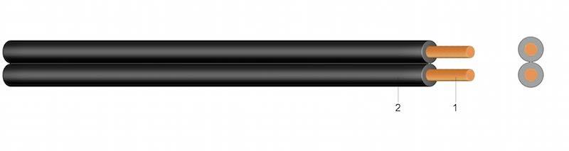 (H)03VH-H (YzwL) - PVC plosnati kabel